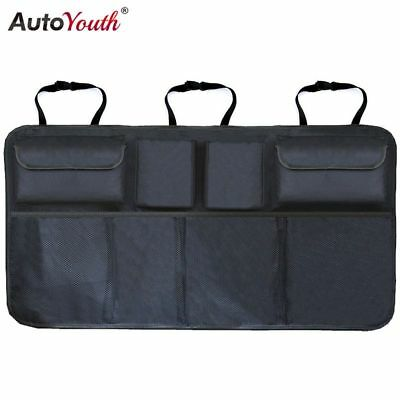 Car Trunk Organizer Adjustable Backseat Storage Bag Net High Capacity Multi-use
