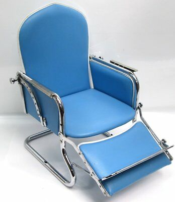 Vintage Magic Circle Child Blue Styling Barber Reclinable Booster Chair Seat