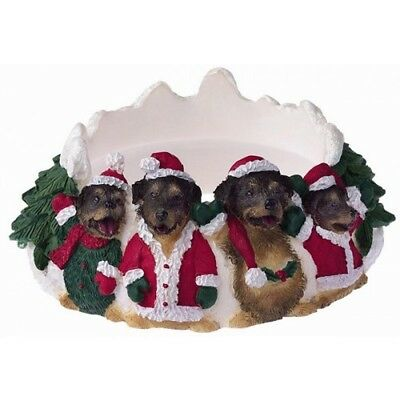 Rottweiler Holiday Candle Topper Ring