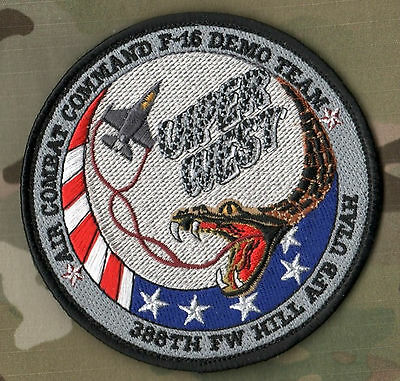 Air Combat Cmd Fighting Falcon F-16 Demo Team Viper West 388Th Fighter Wing Ssi