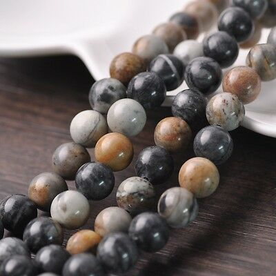 20pcs 10mm Natural Picasso Stone Gemstone Loose Spacer Beads