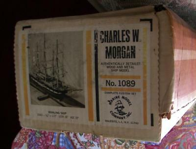Vintage Marine Models Charles W Morgan Whaling Ship Model #1089