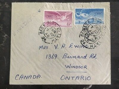 1948 Dublin Ireland First Day Cover FDC To Windsor Canada
