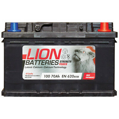 100 Car Battery 3 Years Warranty 70Ah 620cca 12V L278 x W175 x H175mm - Lion 100