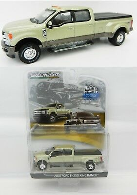 1:64 GreenLight *WHITE GOLD* 2018 F350 King Ranch DUALLY Pickup Truck *NIP*