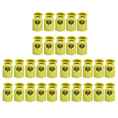 30Pcs Plastic Cord Lock Toggles Barrel Stopper Single Hole for String Rope