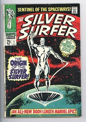 Silver Surfer #1 Vol 1 Nice Lower Grade Origin of the Silver Surfer 1968