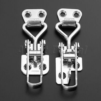 Toggle Switch Latch Catch Hasp Lock For Trunk Boxes Case Toolbox Suitcase Silver