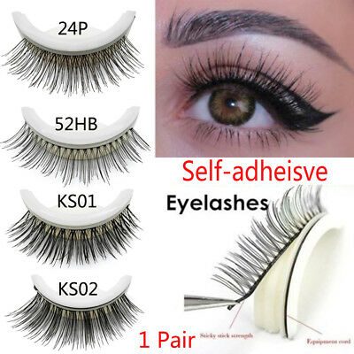 SKONHED  3D Self-Adhesive False Eyelashes Extension No Glue Required Lashes~