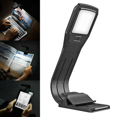 LED Reading Book Light Rechargeable Flexible Clip For Kindle Readers Folding