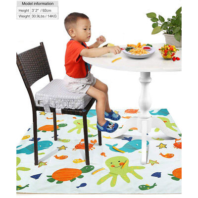 Baby kids Washable Mat Highchair Food Splash Floor Mat Protector Cover Cute