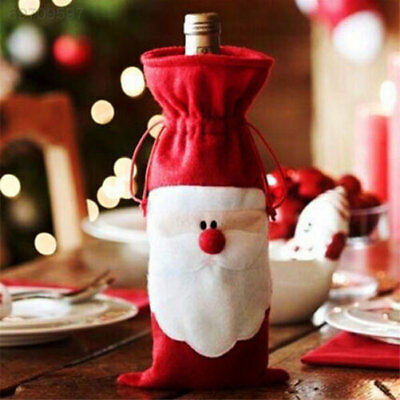 926B Party Christmas Decoration Santa Wine Bottle Cover Beer Xmas Bags Ornament