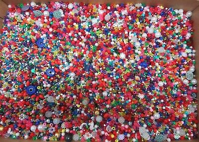 WHOLESALE LOT 25 LBS Assorted Mixed Beads & Sequins Jewelry Making Kids Crafts