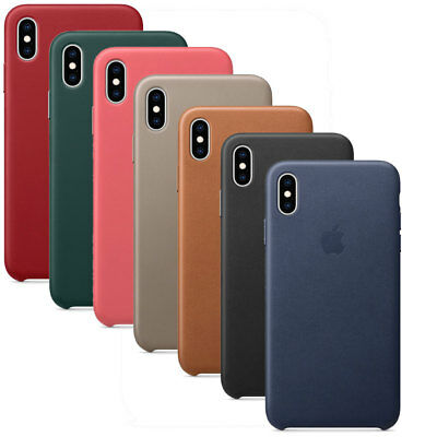 Custodia protettiva cover vera pelle Leather Case ORIGINALE Apple iPhone XS Max