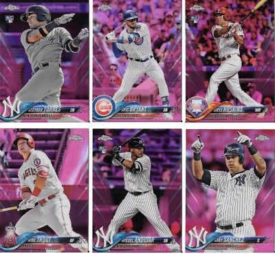 2018 Topps Chrome Pink Refractor Complete your Set U Pick Cards Buy 5 Get 2 FREE