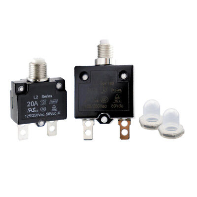 18 A 8 A 5A Current Overload Protection Device Circuit Breaker Manual Reset Circuit Breaker Overcurrent Protector 30 A Thermal Switch Reset Aramox 5 A 10 A 15 A 20 A