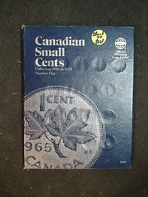 1920 TO 1972 CANADA SMALL CENT COIN ALBUM 58 1C Coins PRICED TO SELL NOW!