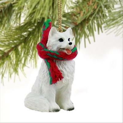 American Eskimo Dog Tiny One Miniature Christmas Holiday ORNAMENT