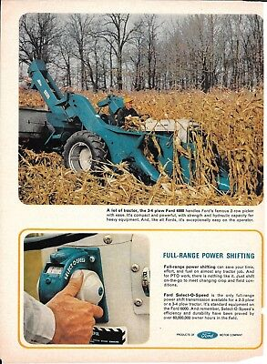 Old Ford Blue Tractors Full Range Power Shifting Models 4000 6000 2000 Ad
