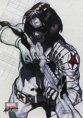 Marvel Masterpieces 2018 Preliminary Art Chase Card PA33 Winter Soldier