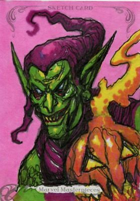 Upper Deck Marvel Masterpieces 2018 Sketch Card By Clint Langley Green Goblin