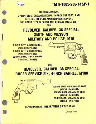 Us Army Smith & Wesson .38 Special Revolver M10 / Ruger Service Six Maintenance