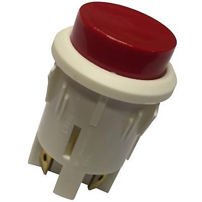 Large Push Button Switch White Red Momentary DPST