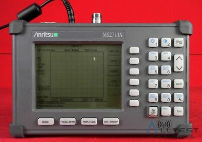 Anritsu MS2711A Handheld Spectrum Analyzer 100 kHz to 3 GHz