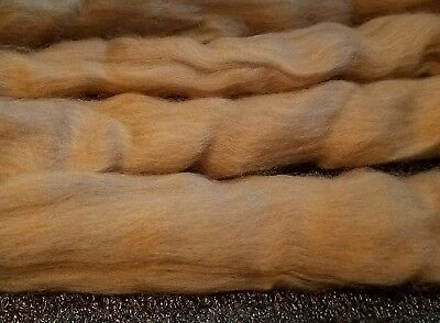 CRAZY Cashmere Roving Combed Top 100% 15 micron TOFFEE premium fiber spin 1 oz