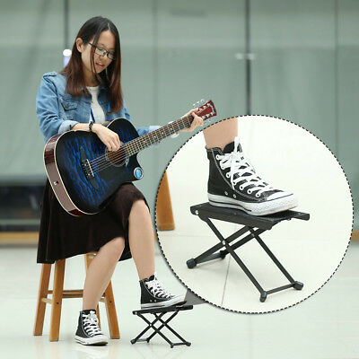 Guitar FOOT STOOL Footstool Footrest Rest Acoustic Electric Metal New Q2S4