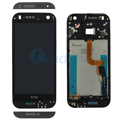 HTC One Mini 2 M8 Mini Display LCD Touch Screen Glas Front Touchscreen Schwarz
