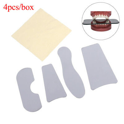 4Pcs/box Dental Orthodontic Intra-Oral Glass Stainless Steel Photography Mirrors