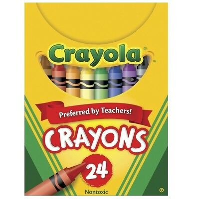 Crayola Crayons in Tuck Box, Standard Size, Pack of 24