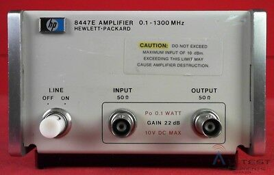 HP / Agilent 8447E AMPLIFIER, .1-1300MHz