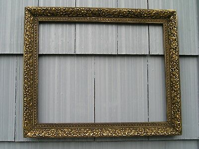 Aged Floral Antique Aesthetic Eastlake Victorian Ornate Picture Frame 16 x 20