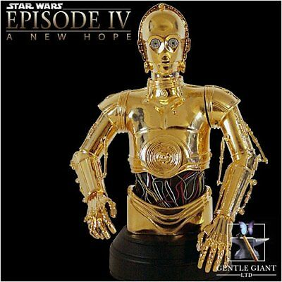 Star Wars gentle giant bust Buste C3PO Gold Plated collectible bust