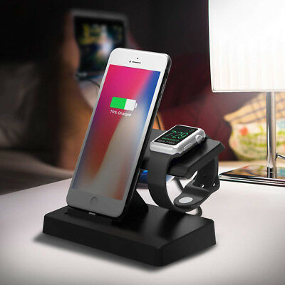 3in1 Fast Wireless Charging Dock Stand For Apple iWatch 2/3 iPhone XR XS XS Max