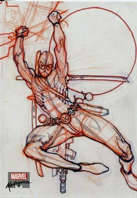 Marvel Masterpieces 2018 Preliminary Art Chase Card PA3 Deadpool