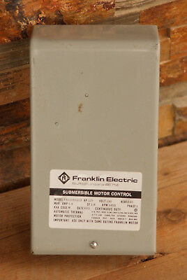 1/2 HP 230V Franklin Control Box Submersible Water Pump 2801050103 3450 RPM