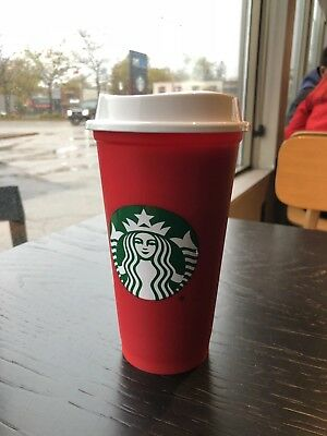 Starbucks Coffee Reusable Red Cup Limited Time 2018 16oz (Grande)