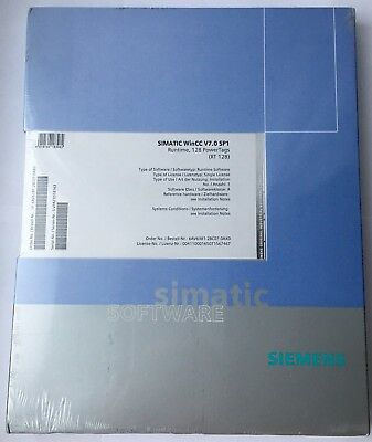 Simatic WinCC V7.0 SP1 Runtime, 128 Power Tags (RT 128) 6AV6381-2BC07-0AX0