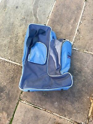 Shires sports & leisure SSL bag for boots hat whip Blue in good condition