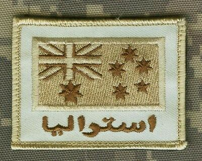 OIF BAGHDAD WHACKER COALITION FORCE VELCRO INSIGNIA: AUSSIE JTF 633 FLAG arabic