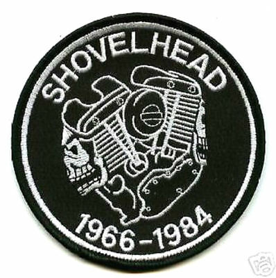 Café Racer Rockers Forever Ton-Up Boys Iron-On Patch: Shovelhead Engine Skull