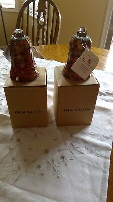 2- Pair Home Interiors Copper Votive Mosaic Candle Holder Homco NEW IN BOX