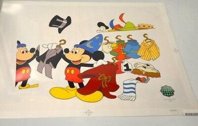 """Walt Disney's Mickey Mouse """"Changing of the Garb"""" Sericel LE 2000 -Unframed"""