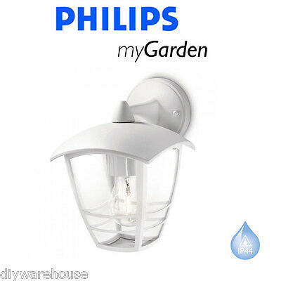 Philips My Garden Creek Wall Down White Outside Lantern Light Quality Die Cast