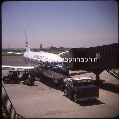 Piedmont Airlines Aircraft Jet Airliner At Gate Vintage 1974 Slide Photo