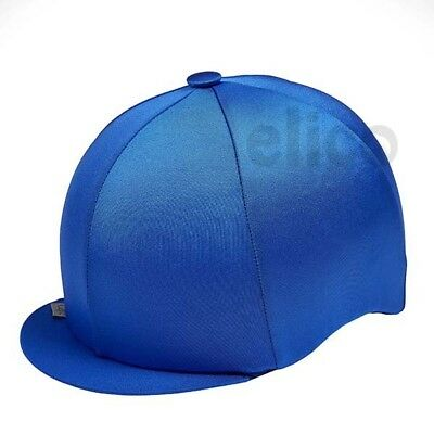 Royal Blue Capz Riding Hat Silk Cover For Jockey Skull Caps One Size