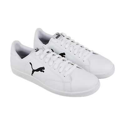 ad599974c445 PUMA SMASH CAT Mens White Leather Lace Up Sneakers Shoes -  21.99 ...
